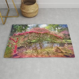 Japanese Garden And Pond Rug