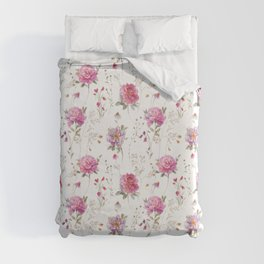 Obviously Pink All Over Floral Duvet Cover