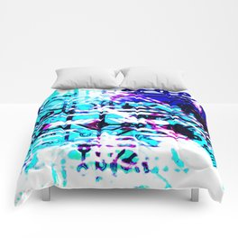 circuit board blue Comforters