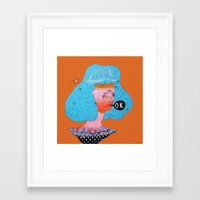kim sy ok Framed Art Prints featuring ok by Kira Leigh