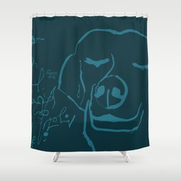 Smell life. Blue Shower Curtain