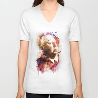 hitchcock V-neck T-shirts featuring ALFRED HITCHCOCK by Elizabeth Cakovan