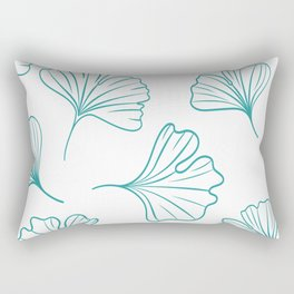 Green Little Ginkgos Rectangular Pillow