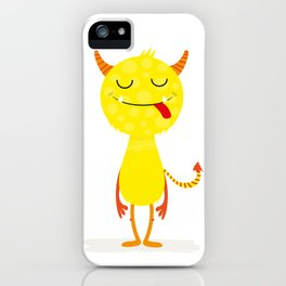 Funny little monster #society6 #decor iPhone Case