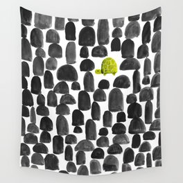 Turtle in Stone Garden Wall Tapestry
