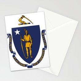 Massachusetts State Flag Stationery Cards