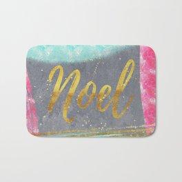 NOEL-Merry modern abstract christmas Bath Mat