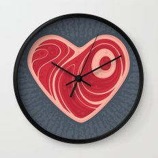 Meat Heart Wall Clock