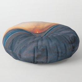 Cape Canaveral Sunrise Floor Pillow