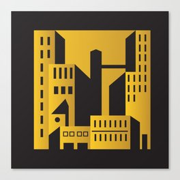 Golden city art deco Canvas Print