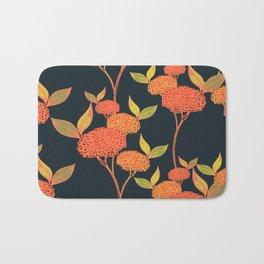 Orange autumn berries. Floral. Bath Mat
