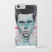 tyler spangler iPhone & iPod Cases featuring Tyler Durden by Bronsolo