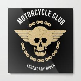 Motorcycle Club Rider Metal Print