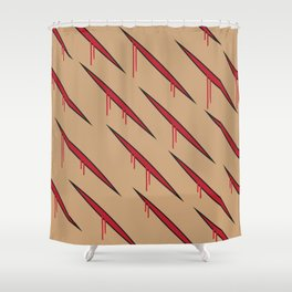 Gashes Shower Curtain