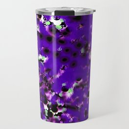 snow dots in black on purple Travel Mug