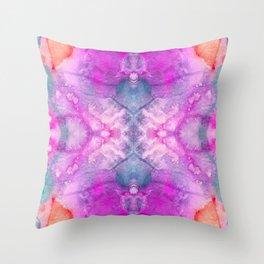 Hot Pink Watercolor Throw Pillow