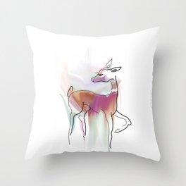 Forest deer. Throw Pillow