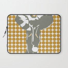 Sudan Brown Safari Dot with Pop Art Elephant Laptop Sleeve