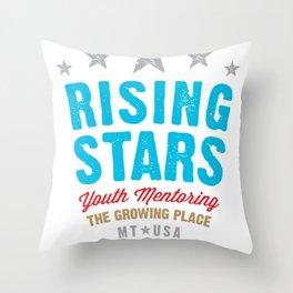 Rising Stars Logo Throw Pillow