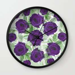 Watchful Roses Wall Clock
