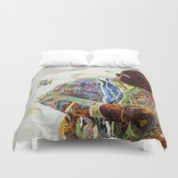 biggie Duvet Covers featuring Biggie by Katy Hirschfeld