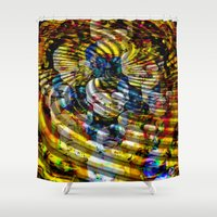 asia Shower Curtains featuring Asia by pystali