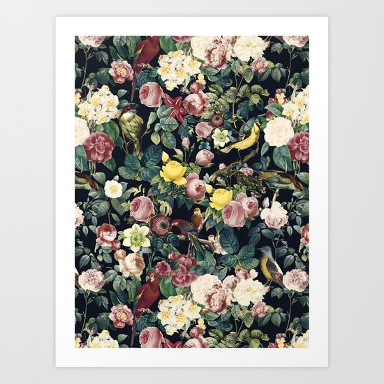 Floral and Birds IV Art Print
