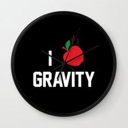 I heart Gravity Wall Clock