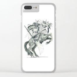 Raging  Samurai #2 Clear iPhone Case