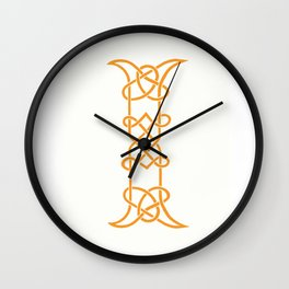 Celtic Initial I Wall Clock