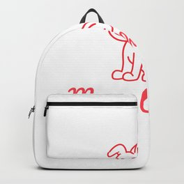 Merry Christmas - Cute Dog Backpack