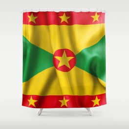 Grenada Flag Shower Curtain