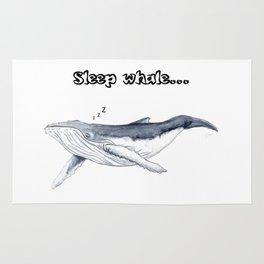 Sleep whale Rug