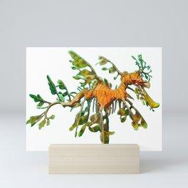Sea Dragon Poetic Body Actinopterygii Plant Tree Leaf Mini Art Print