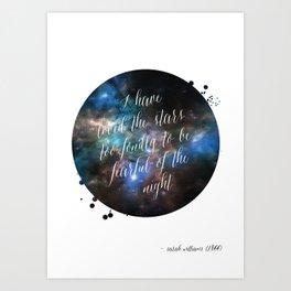 Loved the Stars Art Print