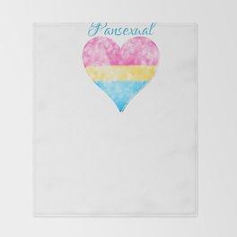Pansexual Pride Throw Blanket