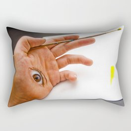 Through the Hand Rectangular Pillow