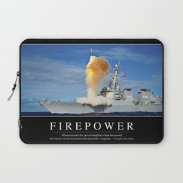 Firepower: Inspirational Quote and Motivational Poster Laptop Sleeve