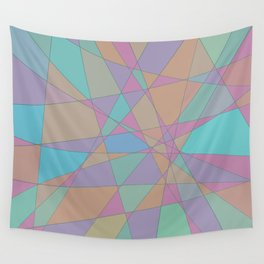 Shattered - Abstract Line Art Wall Tapestry