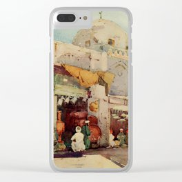 Cane, Ella du (1874-1943) - The Banks of the Nile 1913, Coppersmith's bazaar in Cairo Clear iPhone Case