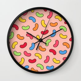 Jelly Beans Pattern Wall Clock