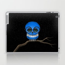 Baby Owl with Glasses and Honduras Flag Laptop & iPad Skin