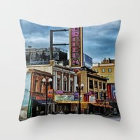theater Throw Pillows featuring Orpheum Theater by gypsykissphotography