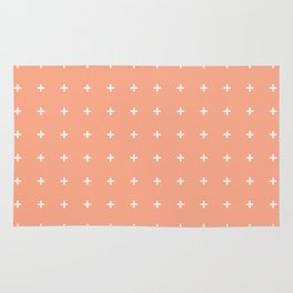 Peach Cross // Peach Plus Rug
