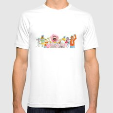 PARTY! Mens Fitted Tee MEDIUM White