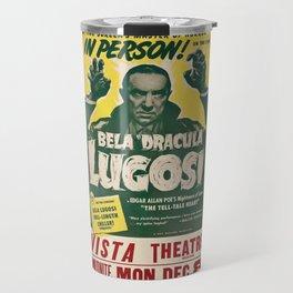 Dracula, Bela Lugosi, vintage poster Travel Mug