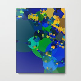raelyn - abstract design of royal blue kelly green bright sunshine yellow teal Metal Print