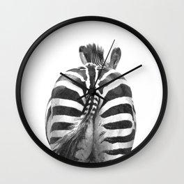 Black and White Zebra Tail Wall Clock