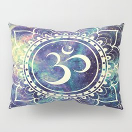 Om Mandala : Deep Pastels Galaxy Pillow Sham