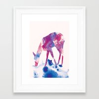fawn Framed Art Prints featuring Fawn by Andreas Lie